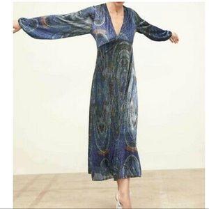 ZARA LIMITED EDITION METALLIC THREAD DRESS